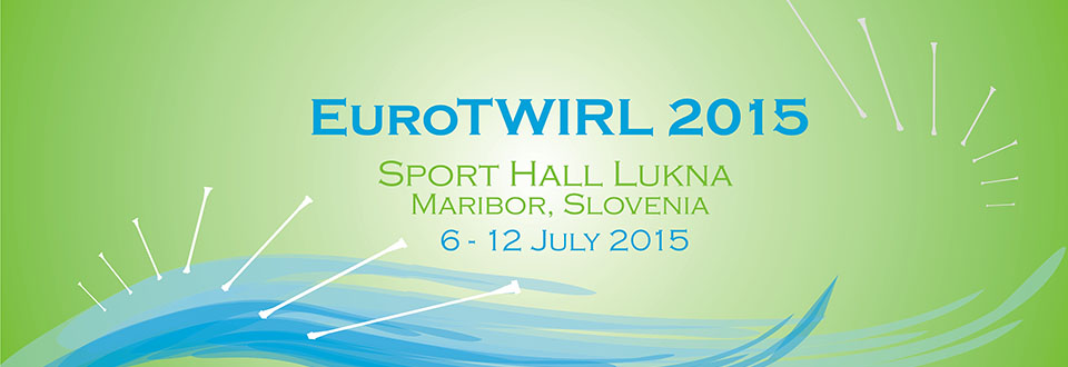 The 2015 European Championship will be held in at Sport Hall Lukna in Maribor, Slovenia from July 6-12 2015.