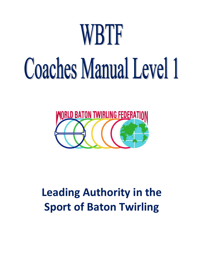 WBTF Level I Coaches Manual Cover Page